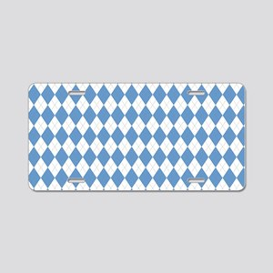 Carolina Blue Argyle Sock P Aluminum License Plate