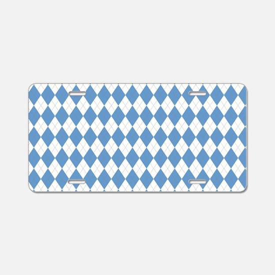 Carolina Blue Argyle Sock P Aluminum License Plate