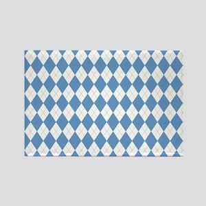 Carolina Blue Argyle Sock Pattern Rectangle Magnet