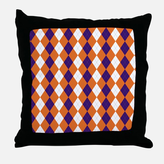 Clemson Argyle Sock... Throw Pillow