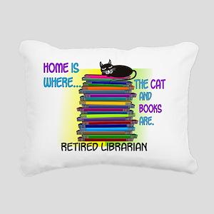 Retired Librarian Home i Rectangular Canvas Pillow