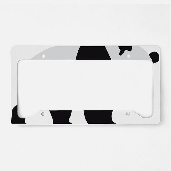 panda bear License Plate Holder