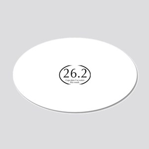 26.2...Cupcakes I've eaten t 20x12 Oval Wall Decal