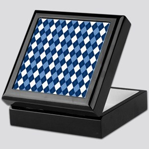 Carolina Blue Argyle Sock Pattern Nor Keepsake Box