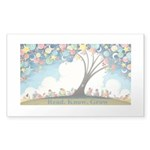 Magical Reading Tree Sticker (Rectangle 50 Pk)
