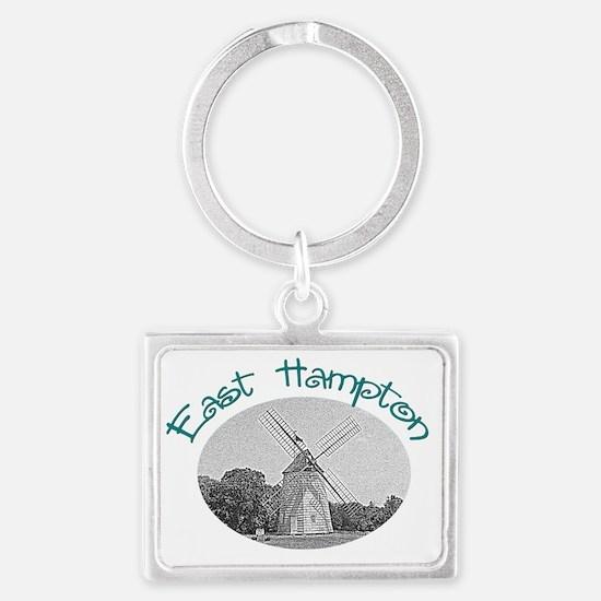 East Hampton Windmill Landscape Keychain