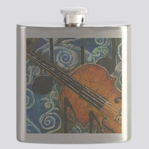 Fiddle Batik Flask