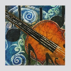 Fiddle Batik Tile Coaster
