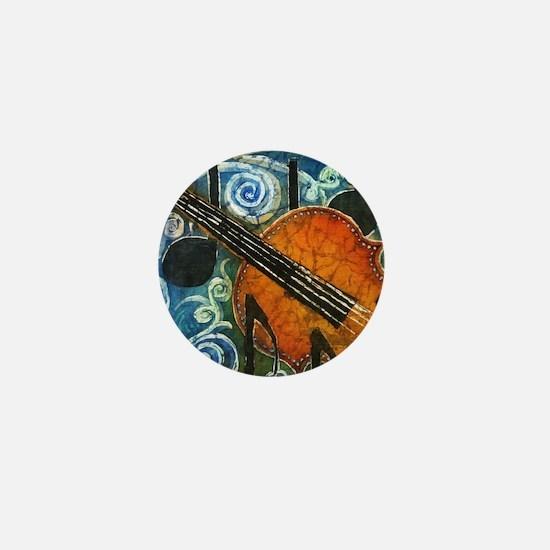 Fiddle Batik Mini Button
