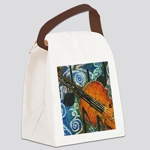 Fiddle Batik Canvas Lunch Bag