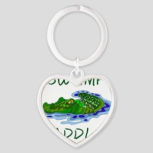 Swamp Paddler Heart Keychain