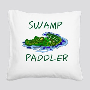 Swamp Paddler Square Canvas Pillow
