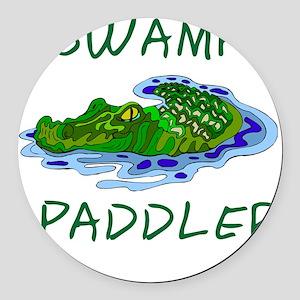 Swamp Paddler Round Car Magnet