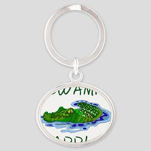 Swamp Paddler Oval Keychain