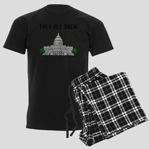 They All Suck Men's Dark Pajamas