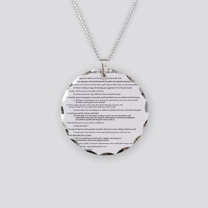 21 Rules & Truisms of Fencin Necklace Circle Charm