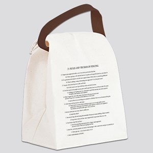 21 Rules & Truisms of Fencing Canvas Lunch Bag