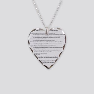 21 Rules & Truisms of Fencing Necklace Heart Charm