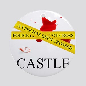 Castle: A Line Has Been Crossed Pol Round Ornament