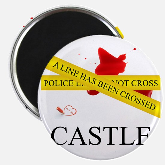 Castle: A Line Has Been Crossed Police Tape Magnet