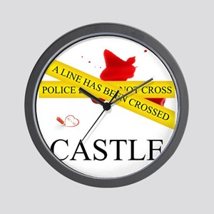 Castle: A Line Has Been Crossed Police  Wall Clock