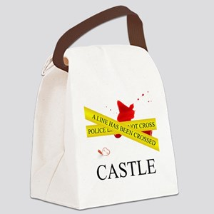 Castle: A Line Has Been Crossed P Canvas Lunch Bag