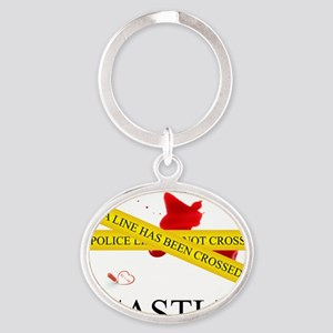 Castle: A Line Has Been Crossed Poli Oval Keychain