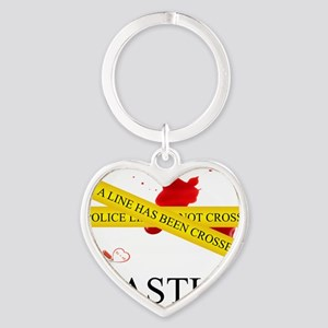 Castle: A Line Has Been Crossed Pol Heart Keychain