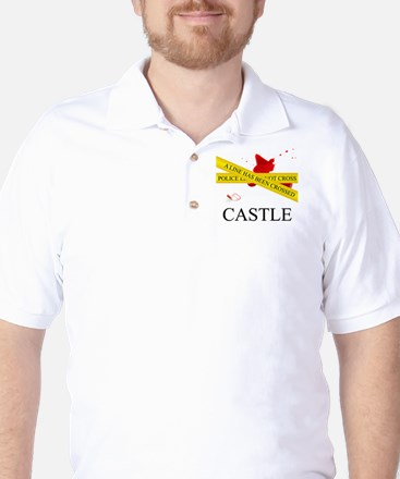 Castle: A Line Has Been Crossed Police  Golf Shirt