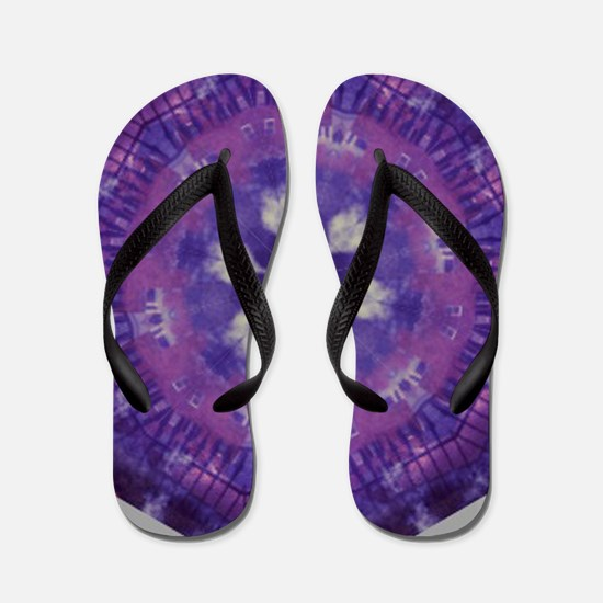 Purple and White Kaleidoscope Flip Flops