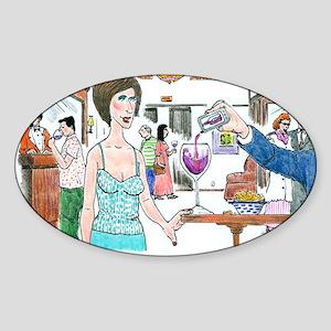 The greatest wine app. Sticker (Oval)