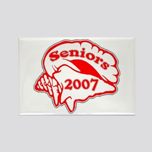 Class of 2007 Seniors Conch Shell Rectangle Magnet