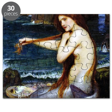 John William Waterhouse Mermaid. Puzzle by Admin_CP1030624
