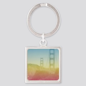 Dreamy Golden Gate Bridge Square Keychain