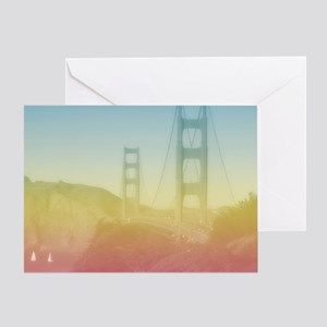 Dreamy Golden Gate Bridge Greeting Card