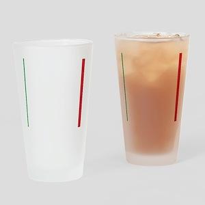 Italy/Italia Flag Drinking Glass