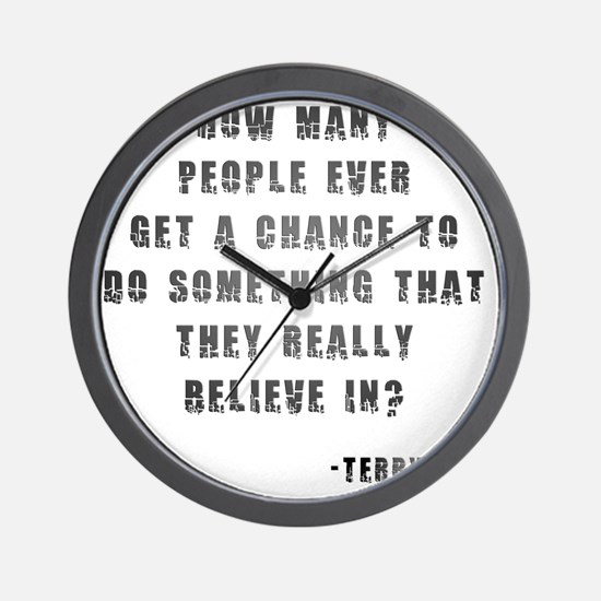 Terry Fox Quote Wall Clock