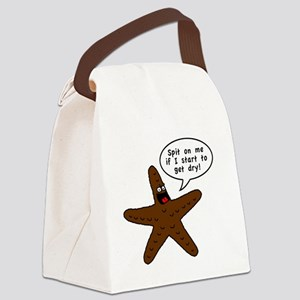 Brown Starfish Canvas Lunch Bag