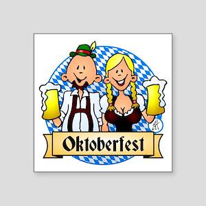 """Oktoberfest Square Sticker 3"""" x 3"""""""