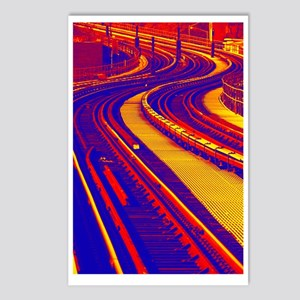Snaking Train Track Postcards (Package of 8)