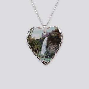 South Dakota Spearfish Falls Necklace Heart Charm
