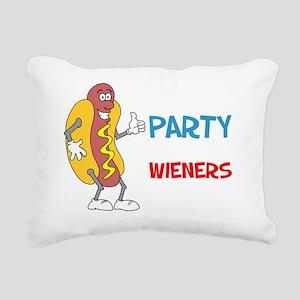Not A Party Until Wiener Rectangular Canvas Pillow