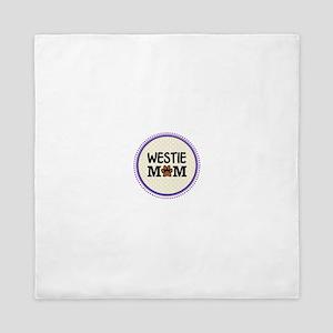 Westie Dog Mom Queen Duvet