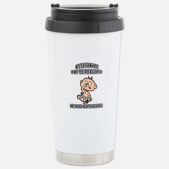 Funny New Father Stainless Steel Travel Mug