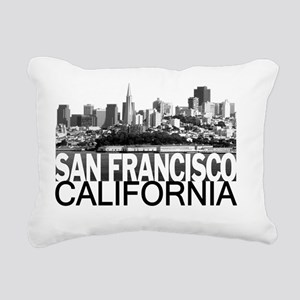 San Francisco Skyline Rectangular Canvas Pillow