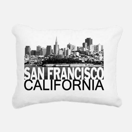 San Francisco Skyline Rectangular Canvas Pillow
