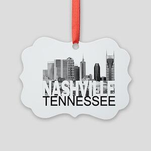 Nashville Skyline Picture Ornament