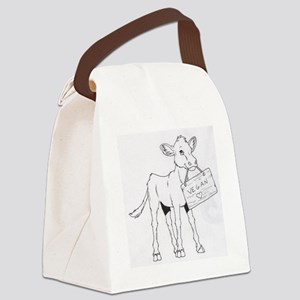 Cows Love Vegans Canvas Lunch Bag