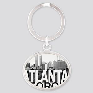 Atlanta Skyline Oval Keychain