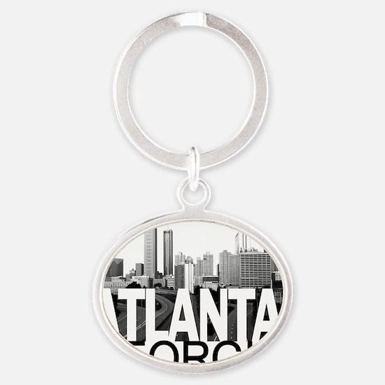 Atlanta Skyline Oval Keychain